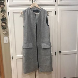 Zara Studio Long Vest Medium Grey